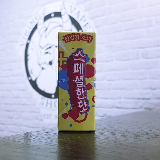 Солевая жижа для вейпа Korean Special Teste SALT Raspberry Soda
