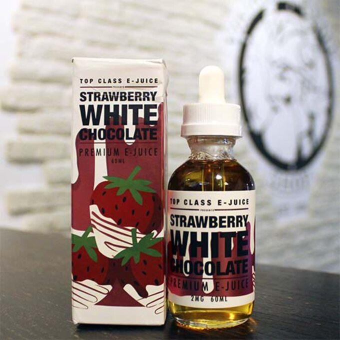 Top Class E-juice Strawberry White Chocolate