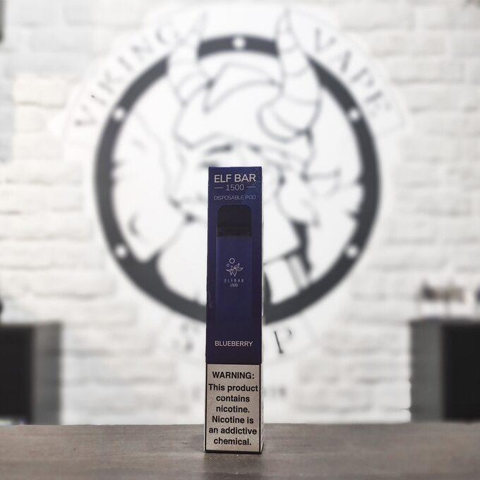 Одноразовая электронная сигарета Elf Bar 1500 затяжек Черника