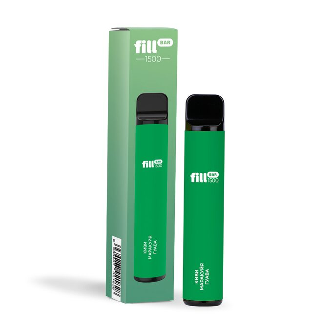 Одноразовая электронная сигарета Fill Bar 1500 затяжек Киви Маракуйя Гуава