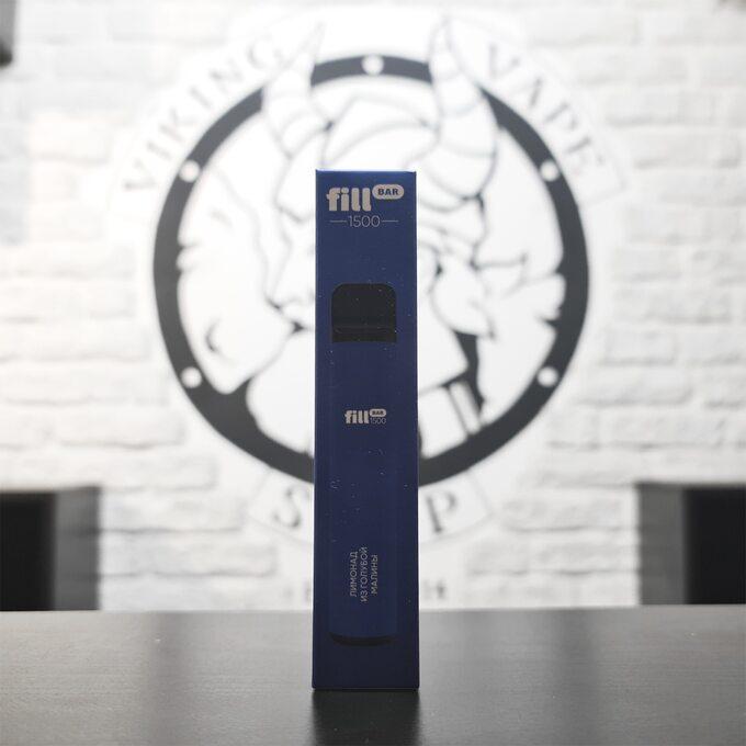 Одноразовая электронная сигарета Fill Bar 1500 затяжек Лимонад из голубой малины
