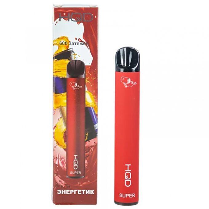 Одноразовая электронная сигарета HQD Super 600 затяжек Adrenaline Energy