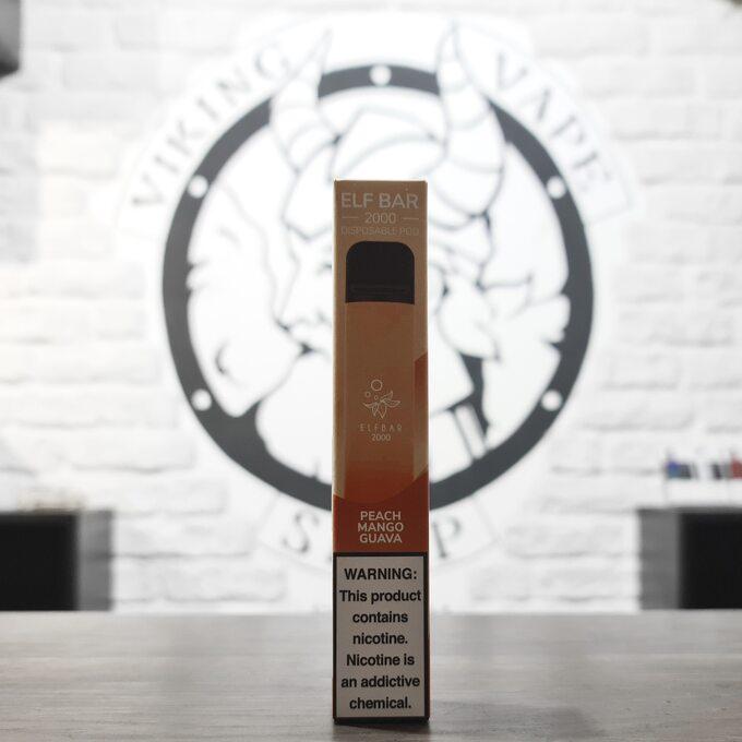 Одноразовая электронная сигарета Elf Bar 2000 затяжек Персик Манго Гуава