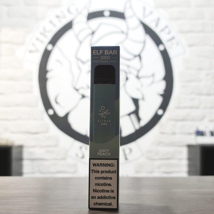 Одноразовая электронная сигарета Elf Bar 2000 затяжек Сочный Персик