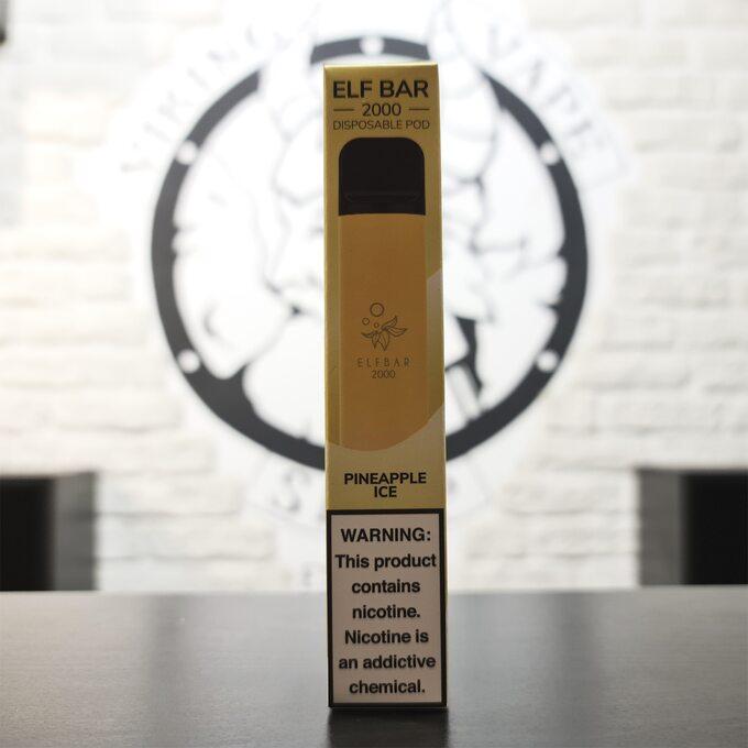 Одноразовая электронная сигарета Elf Bar 2000 затяжек Ледяной Ананас