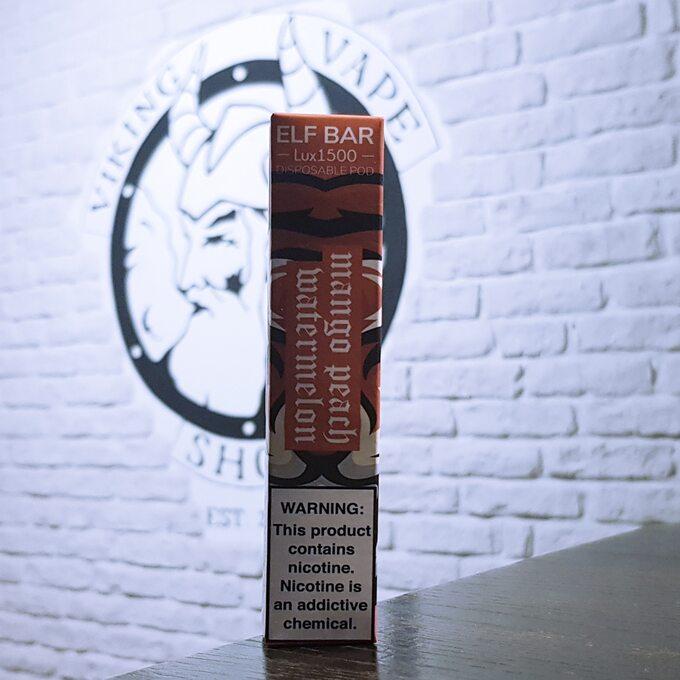 Одноразовая электронная сигарета Elf Bar Lux 1500 затяжек Манго Персик Арбуз