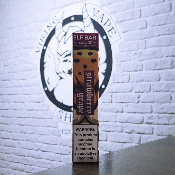 Одноразовая электронная сигарета Elf Bar Lux 1500 затяжек Клубника Виноград