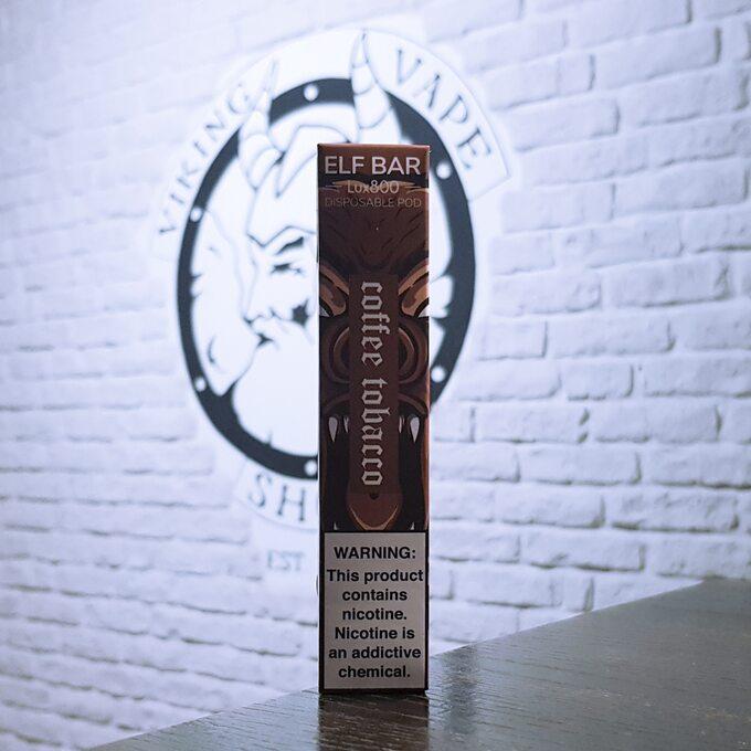 Одноразовая электронная сигарета Elf Bar Lux 800 затяжек Кофе с табаком