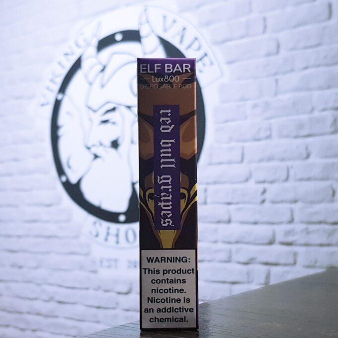 Одноразовая электронная сигарета Elf Bar Lux 800 затяжек Red Bull Виноград