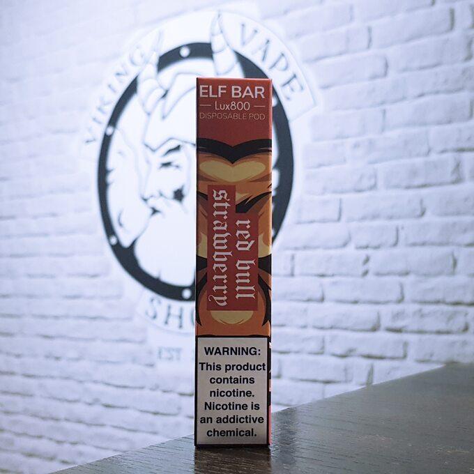 Одноразовая электронная сигарета Elf Bar Lux 800 затяжек Red Bull Клубника