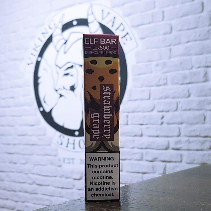 Одноразовая электронная сигарета Elf Bar Lux 800 затяжек Клубника Виноград