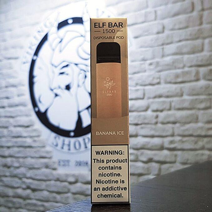 Одноразовая электронная сигарета Elf Bar 1500 затяжек Ледяной Банан