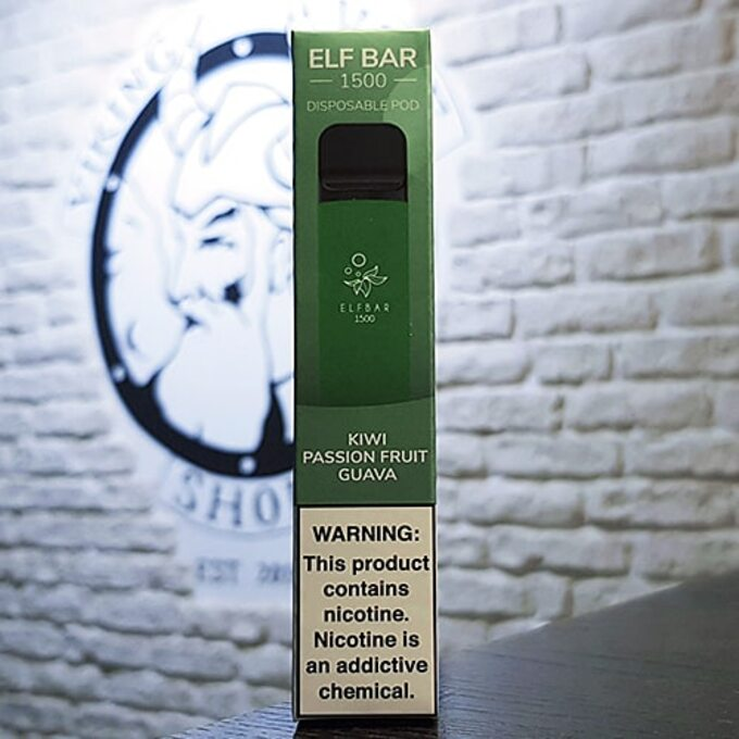 Одноразовая электронная сигарета Elf Bar 1500 затяжек Киви Маракуйя Гуава