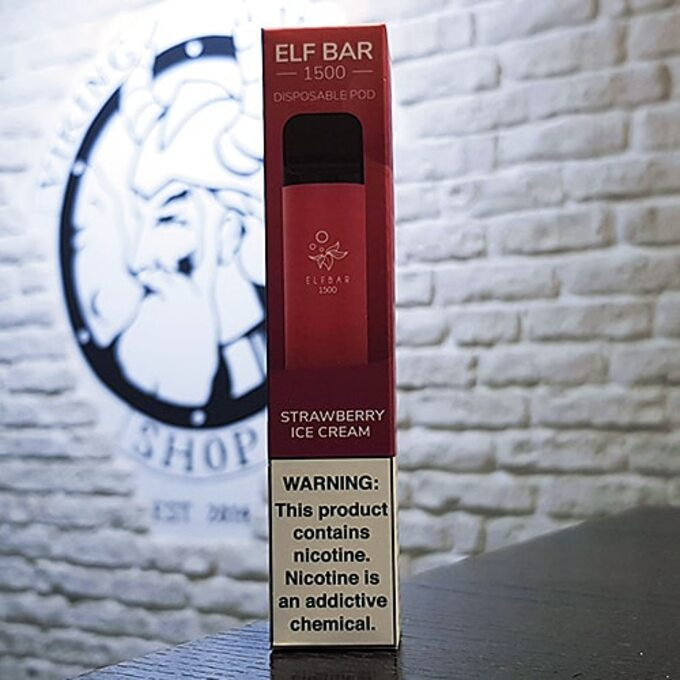 Одноразовая электронная сигарета Elf Bar 1500 затяжек Клубничное Мороженое