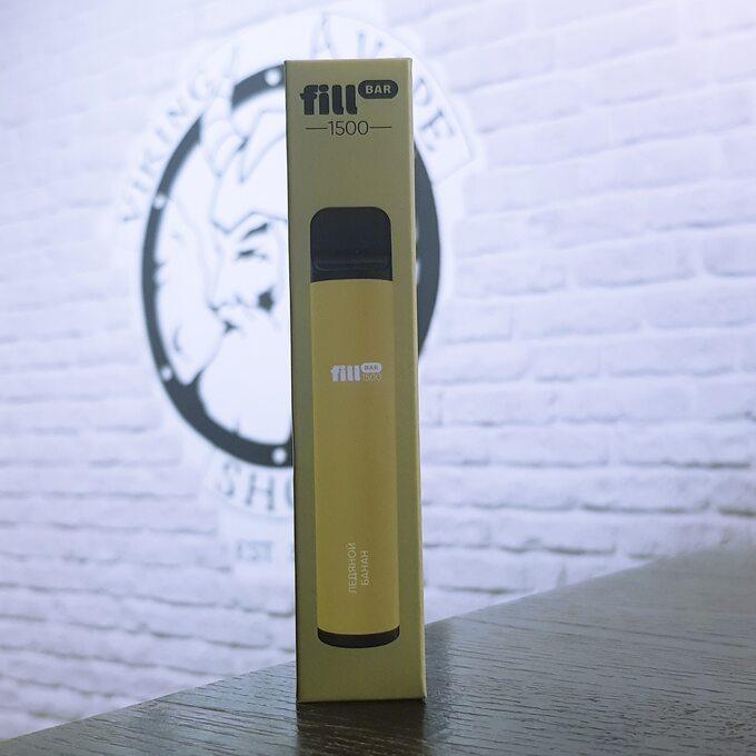 Одноразовая электронная сигарета Fill Bar 1500 затяжек Ледяной Банан