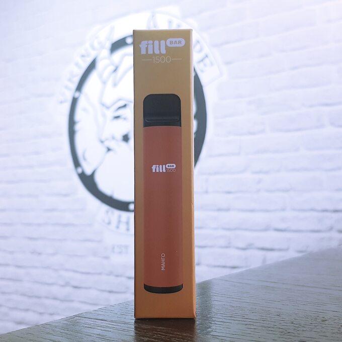 Одноразовая электронная сигарета Fill Bar 1500 затяжек Манго