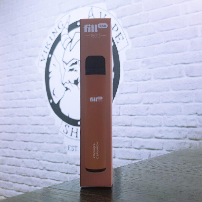 Одноразовая электронная сигарета Fill Bar 1500 затяжек Клубника с бананом