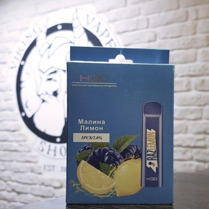 Одноразовая электронная сигарета HQD Cuvie 300 затяжек Малина Лимон