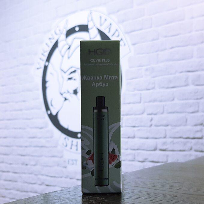 Одноразовая электронная сигарета HQD Cuvie Plus 1200 затяжек Жвачка Мята Арбуз